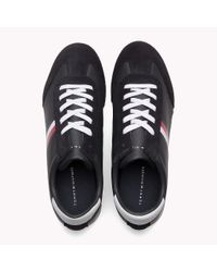 Tommy Hilfiger Blue Classic Stripe Trainers for men