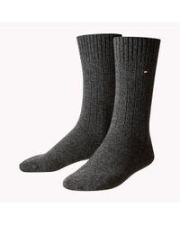 Tommy Hilfiger | Gray Cashmere Blend Sock for Men | Lyst