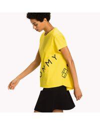 Tommy Hilfiger Yellow Logo Cotton T-shirt