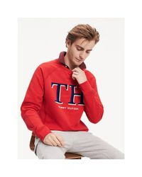 Tommy Hilfiger Sweatshirt Van Katoen Met Monogram in het Red voor heren