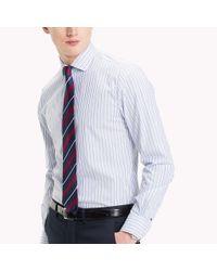 Tommy Hilfiger Blue Stripe Slim Fit Shirt for men
