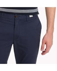 Tommy Hilfiger Blue Stretch Cotton Slim Fit Chinos for men