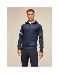 Tommy Hilfiger Blue Reflective Double Knit Hoody for men