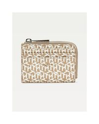 Tommy Hilfiger Tommy Icons Creditcardhouder Met Th-monogram in het Natural