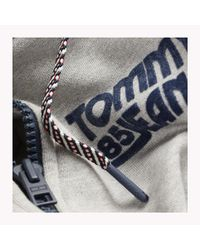 Tommy Hilfiger Gray Regular Fit Zip Hoodie for men