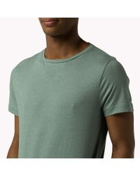 Tommy Hilfiger | Green Light Weight Cotton Crew Neck T-shirt for Men | Lyst