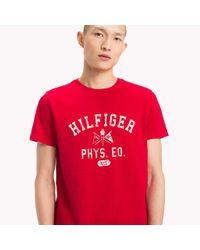 Tommy Hilfiger Red Logo Print Regular Fit T-shirt for men