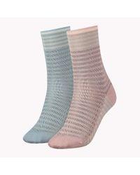 Tommy Hilfiger - Gray 2 Pack Varsity Socks - Lyst