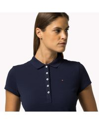 Tommy Hilfiger Blue Fitted Polo