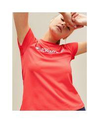Tommy Hilfiger Red Logo Crew Neck T-shirt