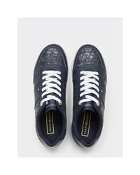Tommy Hilfiger Blue Jacquard Light Trainers