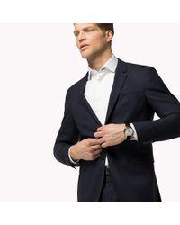 Tommy Hilfiger Blue Slim Fit Virgin Wool Blazer for men