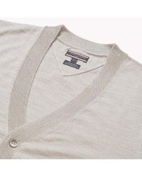 Tommy Hilfiger Gray Luxury Wool Cardigan for men