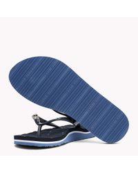 Tommy Hilfiger Blue Metallic Stud Flip-flops