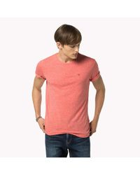 Tommy Hilfiger | Red Original Crew Neck T-shirt for Men | Lyst