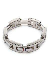 Tommy Hilfiger   Metallic Hilfiger Bracelet   Lyst