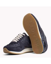 Tommy Hilfiger Blue Suede Star Trainers for men