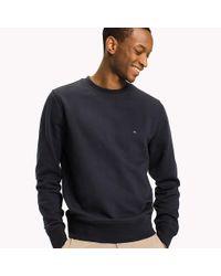Tommy Hilfiger Blue Crew Neck Cotton Sweatshirt for men