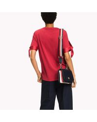 Tommy Hilfiger Red Tied Cuff Top