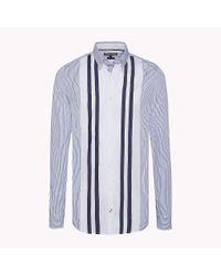 Tommy Hilfiger Blue Slim Fit Striped Shirt for men