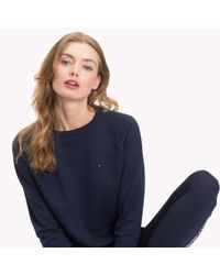 Tommy Hilfiger Blue Cotton Terry Jumper
