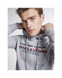 Tommy Hilfiger Gray Organic Cotton Blend Hoody for men