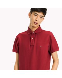 Tommy Hilfiger Red Slim Fit Polo Shirt for men
