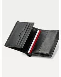 Portefeuille Downtown trois volets en cuir Tommy Hilfiger pour homme en coloris Black
