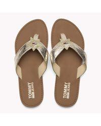 Tommy Hilfiger Metallic Beach Sandals