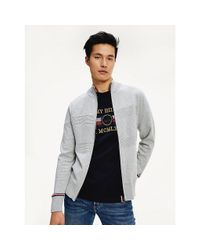Tommy Hilfiger Gray Texture Panels Zip-thru Jacket for men