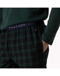 Tommy Hilfiger - Black Cotton Jersey Pyjama Set for Men - Lyst