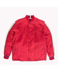 Tommy Hilfiger Red Satin Team Jacket for men