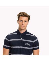 Tommy Hilfiger Blue Stripe Regular Fit Polo for men
