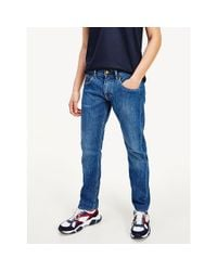 Tommy Hilfiger Blue Fitted Straight Jeans for men