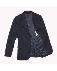 Tommy Hilfiger Blue Single Breasted Regular Fit Blazer