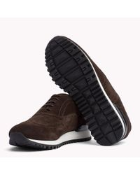 Tommy Hilfiger Brown Suede Lace-up Trainers for men