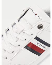 Baskets basses Essential multitextures Tommy Hilfiger pour homme en coloris White