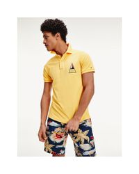 Tommy Hilfiger Yellow Surf Logo Slim Polo for men