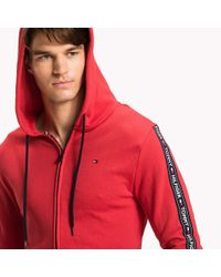 Tommy Hilfiger Red Logo Tape Lounge Hoody for men