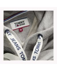 Tommy Hilfiger Gray Cotton Terry Hoodie for men