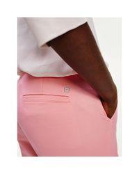 Tommy Hilfiger Essential Slim Fit Broek Op Enkellengte in het Pink