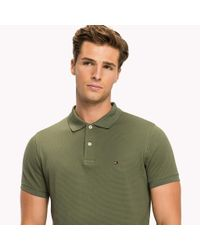 Tommy Hilfiger Green Diamond Texture Slim Fit Polo for men