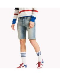 Tommy Hilfiger Blue Denim Slim Fit Shorts for men