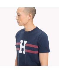 Tommy Hilfiger Blue Logo Print Regular Fit T-shirt for men