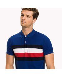 Tommy Hilfiger Blue Chest Stripe Slim Fit Polo Shirt for men
