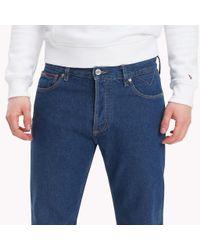 Tommy Hilfiger Blue Cropped Regular Fit Jeans for men