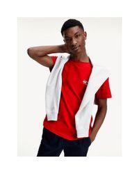 Tommy Hilfiger Slim Fit T-shirt Van Biologisch Katoen in het Red voor heren