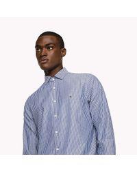 Tommy Hilfiger Blue Stripe Dobby Slim Fit Shirt for men