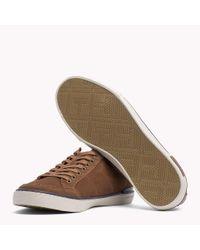 Tommy Hilfiger - Brown Suede Sneaker for Men - Lyst