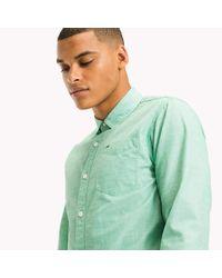 Tommy Hilfiger Green Cotton Regular Fit Shirt for men
